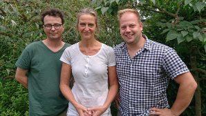 De drie fractieleden van D66 Steenwijkerland op de foto.