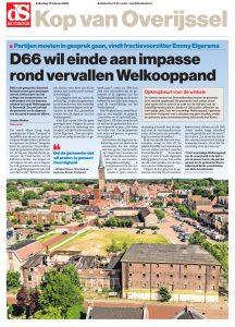 Een artikel in De Stentor over het Welkooppand in Steenwijk.