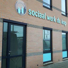 Gebouw van Sociaal Werk De Kop in Steenwijk.