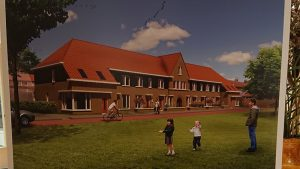 Het ontwerp van de nieuwe huurwoningen in Scheerwolde.